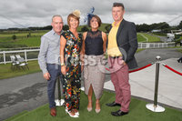 Press Eye - Belfast - Northern Ireland - 11th August 2019 - (L-R) Gary and Jenny McGreevey from Portaferry and  Pauline and Declan McCarthy from Portaferry, pictured at the Downpatrick Racecourse Style Sunday race meeting. . Photograph by Declan Roughan / Press Eye