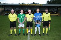 PressEye-Northern Ireland- 19th August  2019-Picture by Brian Little/PressEye. Northern Ireland U16    and Estonia U16   during Monday evening\'s challenge match at Breda Park (Knockbreda FC).. Picture by Brian Little/PressEye .