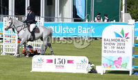 Press Eye - Belfast - Northern Ireland - 16th May 2018. First day of the 2018 Balmoral Show, in partnership with Ulster Bank, at Balmoral Park.  Who jumping in the parade ring. . Picture by Jonathan Porter/PressEye