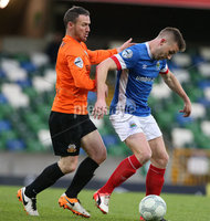PressEye-Northern Ireland- 18th April 2017-Picture by Brian Little/PressEye. Linfield  tephen Lowry    and Glenavon Andy Kilmartin   during Easter Tuesday\'s Danske Bank Section A match at Windsor Park.. Picture by Brian Little/PressEye