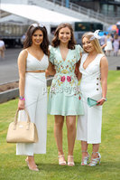 Press Eye - Belfast - Northern Ireland - 7th May 2018  - . May Day Meeting at Down Royal Racecourse.. Harley Semple, Claire Melville and Aoife Ramsay pictured at the County Down racecourse.. Photo by Kelvin Boyes / Press Eye .