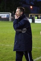 Danske Bank Premiership Play Off Loughshore Hotel Arena, Carrickfergus. Wednesday 9 May 2018. Carrick Rangers FC vs Newry City FC. Delighted Darren Mullen Newry manager. Mandatory Credit ©INPHO/Freddie Parkinson