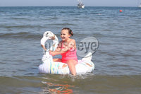 Press Eye - Helens Bay - Weather Pictures - 25th August 2019. Photograph by Declan Roughan. Faith Townley aged 9 from Bangor.