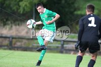 PressEye-Northern Ireland- 19th August  2019-Picture by Brian Little/PressEye. Northern Ireland U16 Conor Scannell    and Estonia U16  goal keeperKaupo Kruusmae   during Monday evening\'s challenge match at Breda Park (Knockbreda FC).. Picture by Brian Little/PressEye .