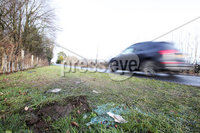 Press Eye - Belfast - Northern Ireland - 14th January 2018. The Scene at Roselawn Cemetery on the Ballygowan Road, outside east Belfast, where a man died on Saturday night following a two vehicle crash.. Picture by Jonathan Porter/PressEye