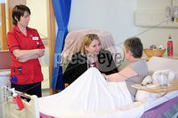 Press Eye - Belfast - Northern Ireland - 5th March 2018 -  . Visiting Londonderry on Monday 5 March 2018, Secretary of State for Northern Ireland Karen Bradley MP toured Altnagelvin Area Hospital\'s A&E unit and visited the hospital's Cardiology and Orthopaedic Wards to meet clinical leads and patients and hear first-hand about the care the hospital provides as well as the challenges faced by the health sector.. Secretary of State for Northern Ireland Karen Bradley is pictured with patient Marion Campbell and Nurse Marie McGrellis during her visit to the hospital.. Photo by Kelvin Boyes / Press Eye..