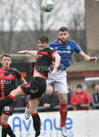 . Danske Bank Premiership Play-Off, Seaview, Belfast 14/4/2018 . Crusaders vs Linfield. Mandatory Credit ©INPHO/Stephen Hamilton. Crusaders Philip Lowry  with Linfields Stephen Lowry