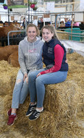 PressEye-Northern Ireland- 16th May 2018-Picture by Brian Little/ PressEye. Martine McCann (left) and Alica McAuley with her Limousin Cattle   during the First day of the 2018 Balmoral Show, in partnership with Ulster Bank, at Balmoral Park. Picture by Brian Little/PressEye