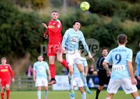 Danske Bank Premiership, Milltown Playing Fields, Newry 2/12/2017 . Warrenpoint Town vs Cliftonville. Warrenpoint\'s Danny Wallace and Cliftonville\'s Rory Donnelly. Mandatory Credit ©INPHO/Philip Magowan