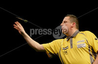 Press Eye - Northern Ireland - 20th April 2017 - Photographer - © Matt Mackey / Presseye.com. Betway Premier League Darts, Night 12, The SSE Arena, Belfast.. Dave Chisnall v Adrian Lewis. Dave Chisnall.