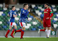 Press Eye - Belfast, Northern Ireland - 29th October 2019 - Photo by William Cherry/Presseye. Linfield\'s Joel Cooper celebrates scoring against Cliftonville during Tuesday nights BetMcLean League Cup game at Windsor Park, Belfast.     Photo by William Cherry/Presseye