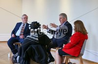 Press Eye - Belfast - Northern Ireland - 4th May 2021 - . NO IMAGE FEE. Today Secretary of State Brandon Lewis met David Grant, Creative Director of Northern Ireland Office.  Centenary programme for young artists, 21 Artists for the 21st Century as well as members of the advisory board and mentor Rosemary Jenkinson from the programme.. Picture by Matt Mackey / Press Eye.