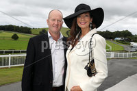 Press Eye - Belfast - Northern Ireland - 11th August 2019 - Stephen and Sharon Donnan from Comber pictured at the Downpatrick Racecourse Style Sunday race meeting. . Photograph by Declan Roughan / Press Eye