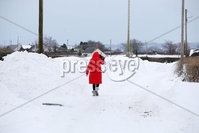 Press Eye - Belfast - Northern Ireland - 3rd March 2018 - . General views of the snow drifts at Halfpenny Gate Road near Moira, Northern Ireland.. Photo by Kelvin Boyes / Press Eye..