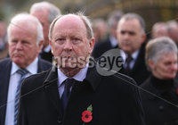 Wednesday 8th November 2017. . Picture by Press Eye.com. TUV leader Jim Allistair Secretary attending the unveiling and dedication of the memorial for the victims of the 1987 Enniskillen Poppy Day Bomb.. ©presseye©