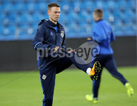 Press Eye - Belfast -  Northern Ireland - 07th October 2017 - Photo by William Cherry/Presseye. Northern Ireland\'s Jonny Evans during Saturdays nights training session at the Ullevaal Stadion, Oslo ahead of Sundays World Cup Qualifier against Norway.   Photo by William Cherry/Presseye