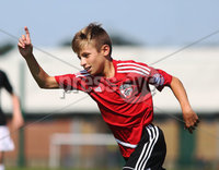 ©/Presseye.com - 9th July 2017.  Press Eye Ltd - Northern Ireland - Hughes Insurance Foyle Cup U-13 2017- GPS FC Bayern (USA) V Bertie Peacock Youth League.. Jack Panayotou (GPS FC Bayern) celebrates a goal..  . Mandatory Credit Photo Lorcan Doherty / Presseye.com