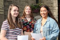 Mandatory Credit - Picture by Freddie Parkinson/Press Eye . Thursday 15 August 2019. Ballyclare High School. A Level Results on the increase once again in Ballyclare High School.. Faith Thompson 4A, Erin Manson 3A B and Ellen White 4A.