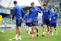 Press Eye - Belfast - Northern Ireland - 8th  September 2019. Northern Ireland train at the National Stadium ahead of their UEFA Euro Qualifier against Germany.. Picture by Declan Roughan/PressEye. (Centre) Paddy Mc Nair