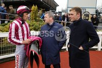Press Eye - Belfast - Northern Ireland - 1st November 2019 - . Down Royal Racecourse - November Festival Day 1 - Friday . Race 3 - 1:45 WKD HURDLE . Davy Russell with Gordon Elliott and and Geroid OLoughlin.. Photo by Kelvin Boyes / Press Eye.. .