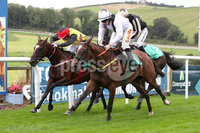Press Eye - Belfast - Northern Ireland - 11th August 2019 - Downpatrick Racecourse Style Sunday race meeting. . Race 1:  1.50. Molson Coors Mares Maiden Hurdle of 11,000.00 2m. 2f. 165yds.. Winner: Sean Flanagan on board STAR ADVENTURE.