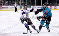 Press Eye - Belfast -  Northern Ireland - 03rd March 2019 - Photo by William Cherry/Presseye. Belfast Giants\' Curtis Leonard with Manchester Storm during Sunday afternoons Elite Ice Hockey League game at the SSE Arena, Belfast.