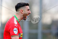 Danske Bank Premiership, Milltown Playing Fields, Newry 2/12/2017 . Warrenpoint Town vs Cliftonville. Cliftonville\'s Joe Gormley celebrates. Mandatory Credit ©INPHO/Philip Magowan