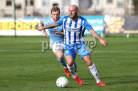 Danske Bank Premiership, The Showgrounds, Ballymena, 14/09/2019. Ballymena United vs Coleraine. Mandatory Credit INPHO/Declan Roughan. Ballymena United\'s Ross Lavery with Gareth Mc Conaghie of Coleraine