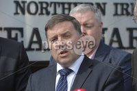 13th August 2019. Presseye.com. Ulster Unionist leader Robin Swann picture at Police head quarters in Belfast after a meeting to discuss the policing decisions taken in Londonderry on Saturday at the annual Apprentice Boys parade.. Mandatory Credit : Stephen Hamilton/Presseye