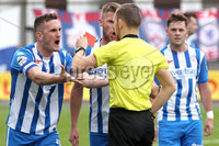 Danske Bank Premiership, The Showgrounds, Ballymena, 14/09/2019. Ballymena United vs Coleraine. Mandatory Credit INPHO/Declan Roughan. Coleraine\'s Captain Stephen ODonnell gets sent of by referee Tim Marshall.