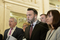 Presseye.com. 21/10/2019. SDLP Leader Colum Eastwood  pictured at Stormont  chamber where local MLAs returned to the chamber to debate laws on abortion and same sex marriage which will change at midnight  tonight .. Mandatory Credit Stephen Hamilton /Presseye