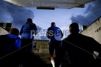 Press Eye - Belfast, Northern Ireland - 09th October 2019 - Photo by William Cherry/Presseye. Northern Ireland\'s Steven Davis and Stuart Dallas walk through the tunnel during Wednesday nights training session at Stadium Feijenoord ahead of Thursday nights UEFA Euro 2020 Qualifier against Netherlands in Rotterdam. Photo by William Cherry/Presseye