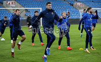 Press Eye - Belfast -  Northern Ireland - 07th October 2017 - Photo by William Cherry/Presseye. Northern Ireland\'s Kyle Lafferty during Saturdays nights training session at the Ullevaal Stadion, Oslo ahead of Sundays World Cup Qualifier against Norway.   Photo by William Cherry/Presseye