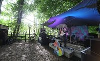 ©Lorcan Doherty Photography - 11th August 2017 . Stendhal Festival 2017. Glenn Rosborough at the Wooly Woodland Stage.. . Photo by Lorcan Doherty / Press Eye..