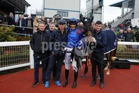Press Eye - Belfast - Northern Ireland - 1st November 2019 - . Down Royal Racecourse - November Festival Day 1 - Friday . Race 2 - 1:10 LOUGH CONSTRUCTION LTD. IRISH EBF MARES NOVICE HURDLE . Daylight Katie ridden by Davy Russell after winning the 2nd race at Down Royal . Photo by Kelvin Boyes / Press Eye.. .