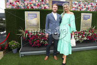 Press Eye - Belfast - Northern Ireland - 11th August 2019 - (L-R) Gary and Ivon Moore pictured at the Downpatrick Racecourse Style Sunday race meeting. . Photograph by Declan Roughan / Press Eye