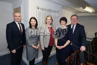 Press Eye - Belfast - Northern Ireland - 4th March 2018 -  . Visiting Londonderry on Monday 5 March 2018, Secretary of State for Northern Ireland Karen Bradley MP met representatives from Londonderry Chamber of Commerce at their office in the city centre.. She is pictured with, from left to right, Odhran Dunne, Visit Derry Manager;  Sinead McLaughlin Chief Executive Londonderry Chamber of Commerce;  Jennifer McKeever, President Londonderry Chamber of Commerce and Don Wilmont, Chair of Visit Derry.. Photo by Kelvin Boyes / Press Eye..