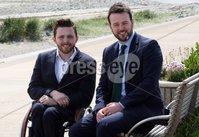 Press Eye © Belfast - Northern Ireland. Photo by Freddie Parkinson / Press Eye ©. Wednesday 17th May 2017. SDLP Leader Colum Eastwood formally launched the party's 2017  . Westminster Election campaign in the Newcastle Centre, 10-14 Central Promenade, Newcastle, Co Down.. Cllr Johnny McCarthy of Lisburn and Castlereagh City Council with SDLP Leader Colum Eastwood