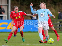Danske Bank Premiership, Milltown Playing Fields, Newry 2/12/2017 . Warrenpoint Town vs Cliftonville. Warrenpoint\'s Conall McGrandles and Cliftonville\'s Jude Winchester. Mandatory Credit ©INPHO/Philip Magowan