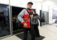 European Rugby Champions Cup Round 4, Kingspan Stadium, Belfast 15/12/2017. Ulster vs Harlequins. Ulster Director of rugby Les Kiss arrives. Mandatory Credit ©INPHO/Bryan Keane