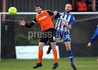 Danske Bank Premiership, Belfast Loughshore Hotels Arena 2/12/2017 . Carrick Rangers vs Coleraine. Michael Smith of Carrick and Gareth McGonaghie of Coleraine. Mandatory Credit ©INPHO/Freddie Parkinson