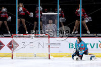Press Eye - Belfast -  Northern Ireland - 09th February 2018 - Photo by William Cherry/Presseye. Belfast Giants Jackson Whistle during Friday nights Elite Ice Hockey League game at the SSE Arena, Belfast.
