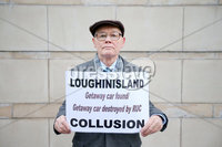Press Eye - Belfast - Northern Ireland - 12th January 2018. Judge at Belfast High Court delays his ruling on a police ombudsman\'s report into the murders of six Catholic men in 1994 .  He said the ombudsman\'s new legal representative needed time to read himself into the case.  The men were shot dead by loyalist paramilitaries as they watched a World Cup football match in a pub in Loughinisland, County Down.  In June 2016, the police ombudsman ruled there had been collusion between some police officers and the gunmen.. Willie Loughran, whose brother was shot dead by the Brtish Army in 1973, pictured outside the High Court in Belfast. . Picture by Jonathan Porter/PressEye
