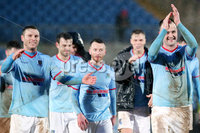 Bet McLean Cup Semi-Final, Showgrounds, Co. Antrim 10/2/2018. Ballymena United vs Cliftonville. Ballymena players celebrate after winning . Mandatory Credit ©INPHO/Jonathan Porter
