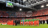 ©Press Eye Ltd Northern Ireland - 1st June 2012. Mandatory Credit - Picture by Darren Kidd/Presseye.com .  . Netherlands v Northern Ireland at the Amsterdam Arena..