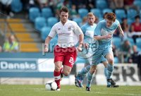 ©Press Eye Ltd Northern Ireland - 11th August  2012. Mandatory Credit - Picture by Darren Kidd/Presseye.com .   . Danske Bank Premiership, Ballymena United v Linfield FC.. Ballymena\'s Aaron Stewart with Linfield\'s Jamie Mulgrew