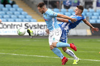 Danske Bank Premiership, The Showgrounds, Ballymena, 14/09/2019. Ballymena United vs Coleraine. Mandatory Credit INPHO/Declan Roughan. Ballymena United\'s Ryan Harper with Aaron Jarvis of Coleraine