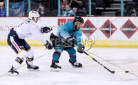 Press Eye - Belfast -  Northern Ireland - 24th August 2019 - Photo by William Cherry/Presseye . Belfast Giants\' Bobby Farnham during Saturday nights Exhibition Game against Herning Blue Fox at the SSE Arena, Belfast.    Photo by William Cherry/Presseye