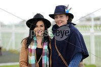Press Eye - Belfast - Northern Ireland - 1st November 2019 - . Down Royal Racecourse - November Festival Day 1 - Friday . Ruth Pearson and Sarah Lynass pictured at Down Royal . Photo by Kelvin Boyes / Press Eye.. .