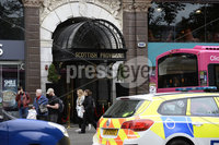Presseye 10/09/2019. General views of the Provident building in Belfast where a man has been taken to hospital after he was stabbed by another man armed with a knife inside the building in Belfast city centre.. The incident happened at commercial premises in the building on Donegall Square West just before 14:00 BST on Tuesday.. . Mandatory Credit Presseye /Stephen Hamilton.
